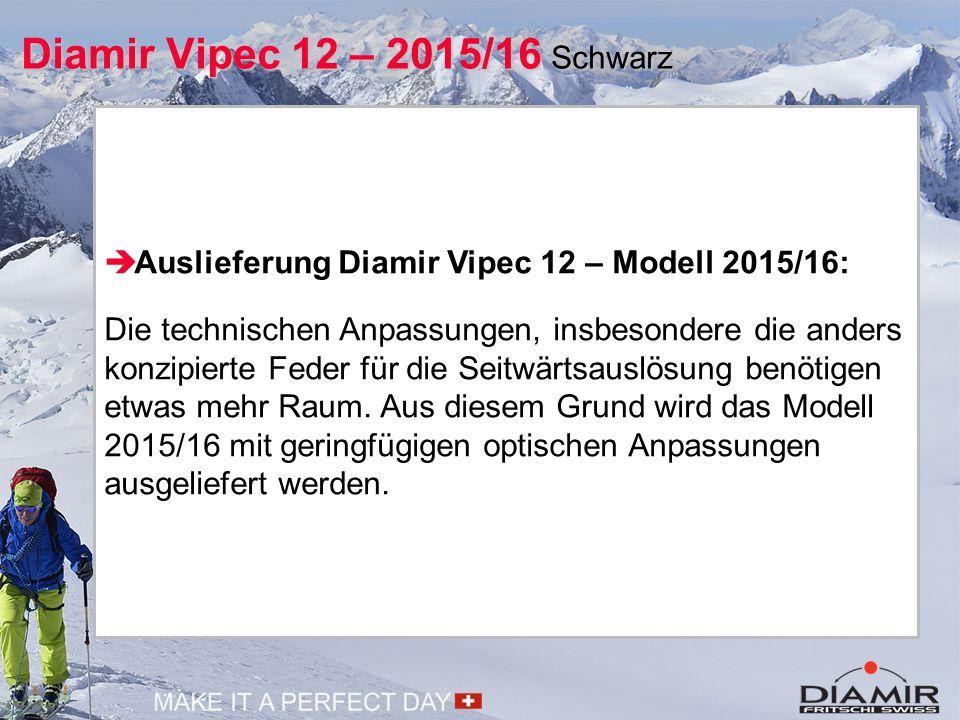  Auslieferung Diamir Vipec 12 – Modell 2015/16: Die technischen Anpassungen, insbesondere die anders konzipierte Feder für die Seitwärtsauslösung ben
