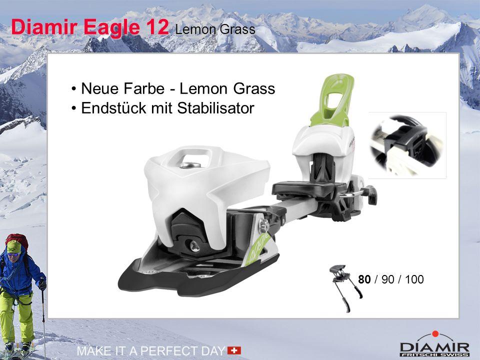 Mehr Diamir Eagle 12 Lemon Grass  Neues Endstück mit Stabilisator Mehr Stabilität im Heckbereich für eine erhöhte Fahrperformance.