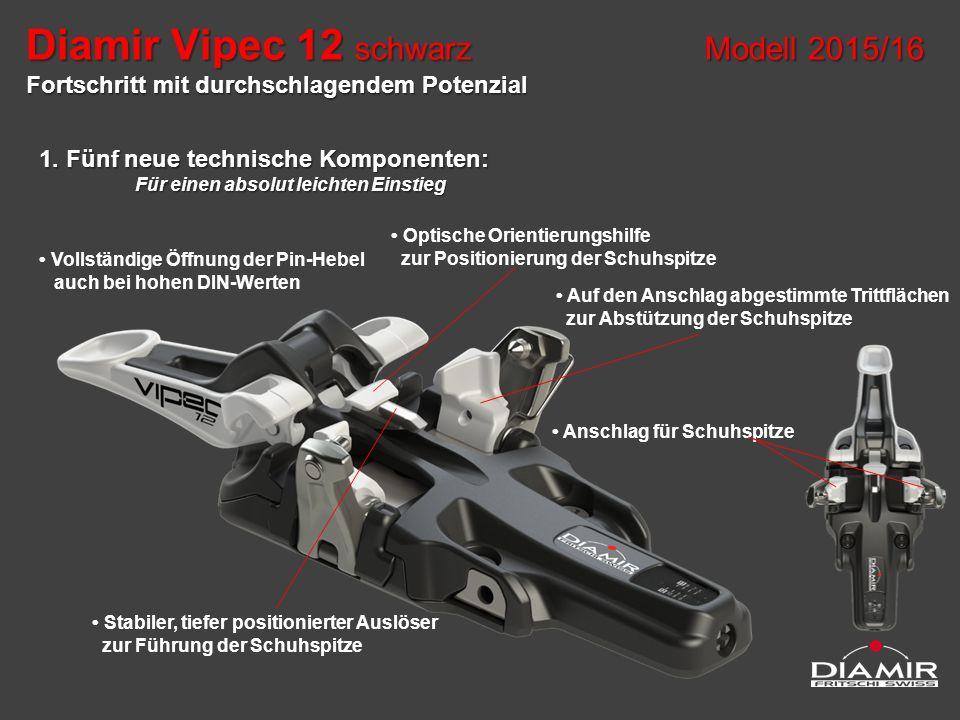 1. Fünf neue technische Komponenten: Für einen absolut leichten Einstieg Optische Orientierungshilfe zur Positionierung der Schuhspitze Stabiler, tief