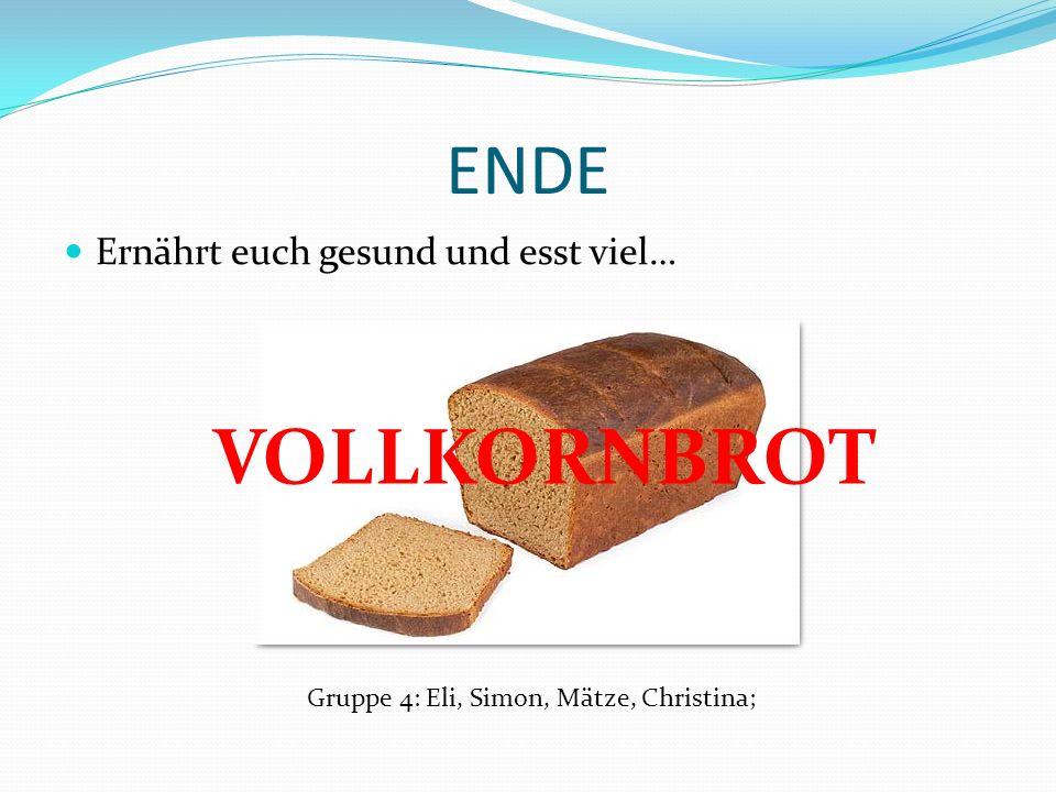 Vorzüge von Vollkornbrot Vollkornbrote haben sehr viel Ballaststoffe WEIL Vollkornbrote aus Getreide hergestellt werden und in den äußersten Schichten der Getreidekerne viel Zellulose ist.