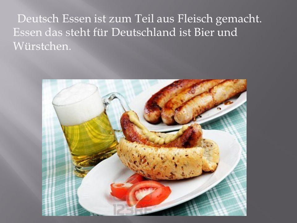 Deutsch Essen ist zum Teil aus Fleisch gemacht. Essen das steht für Deutschland ist Bier und Würstchen.