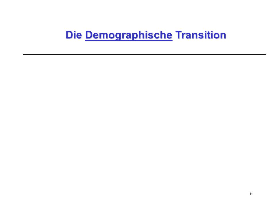 6 Die Demographische Transition
