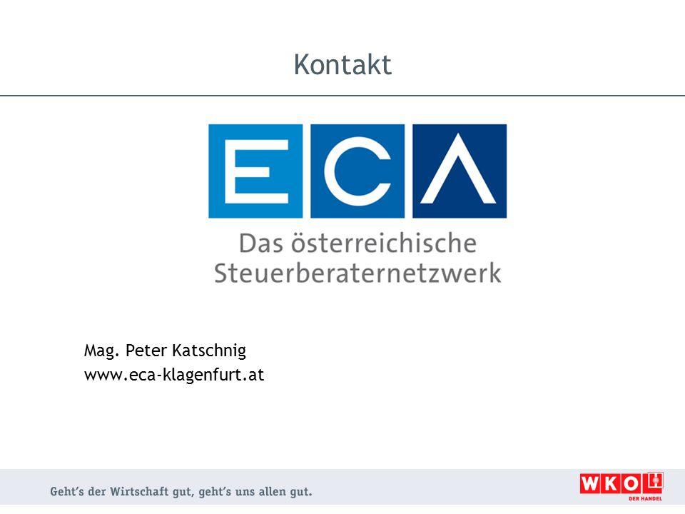 Mag. Peter Katschnig www.eca-klagenfurt.at Kontakt