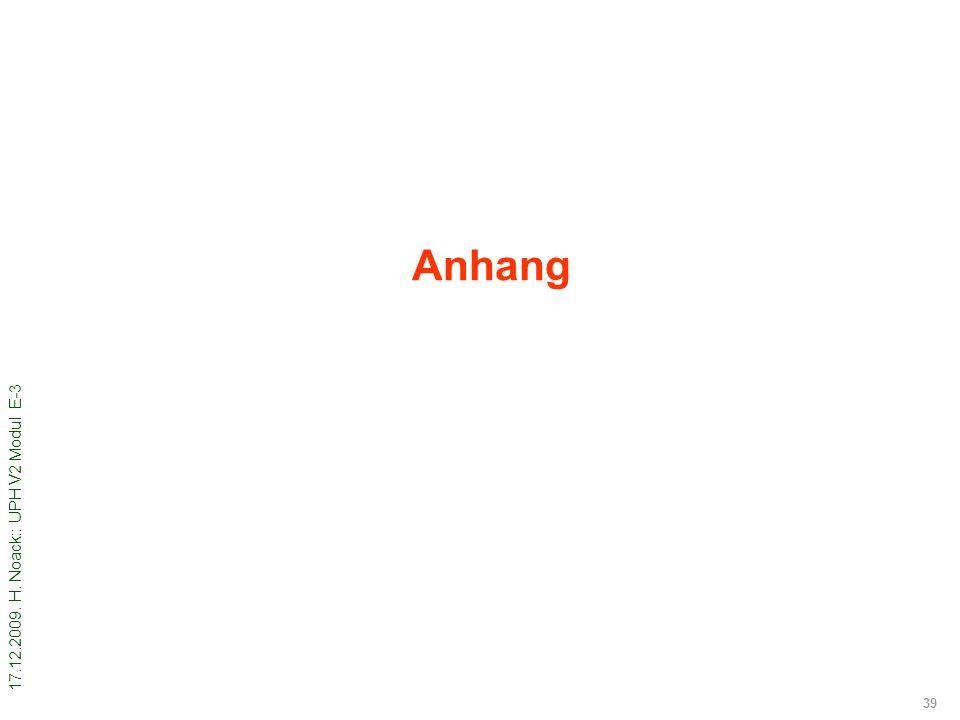 17.12.2009. H. Noack:: UPH V2 Modul E-3 39 Anhang