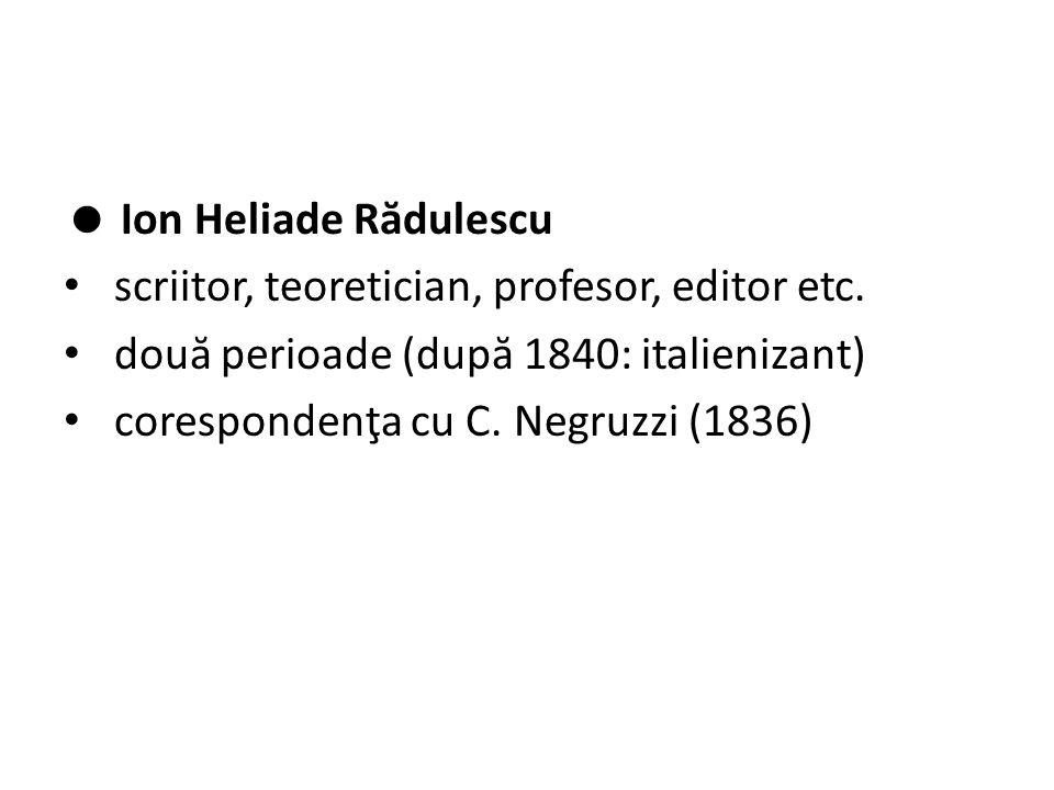  Ion Heliade R ă dulescu scriitor, teoretician, profesor, editor etc.