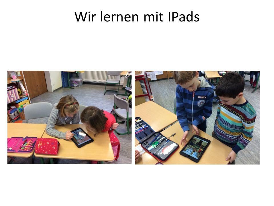 Wir lernen mit IPads