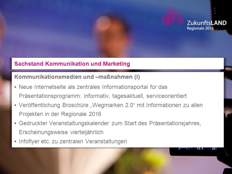 Kommunikationsmedien und –maßnahmen (I) Neue Internetseite als zentrales Informationsportal für das Präsentationsprogramm: informativ, tagesaktuell, s