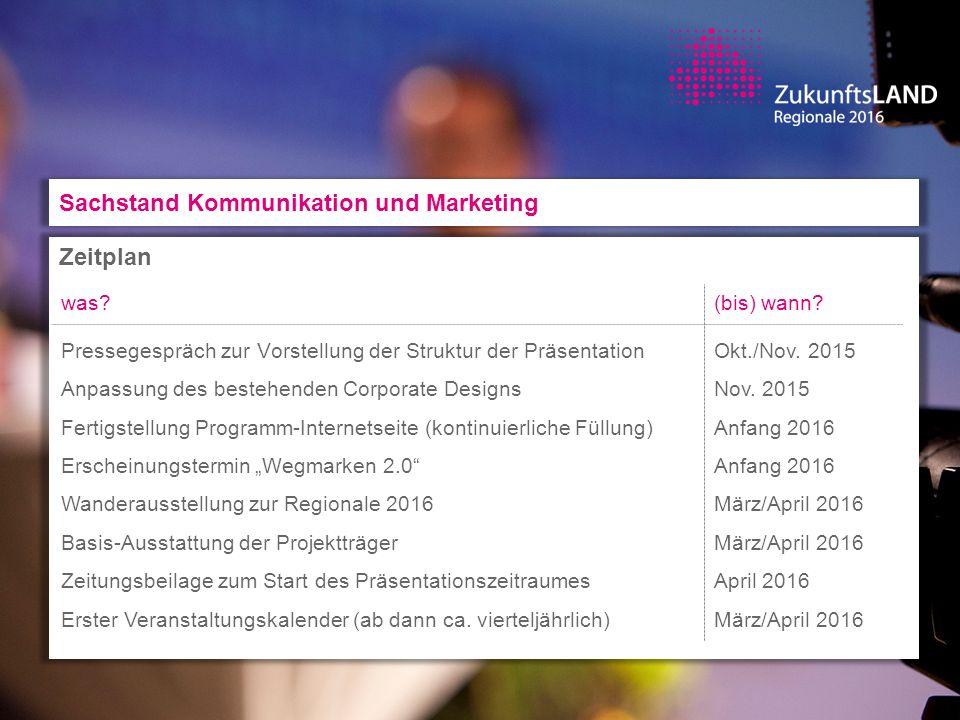 Sachstand Zentrale Formate ZukunftsLANDpartie I, Tag 1: Auftaktveranstaltung Zeit: Freitag 29.