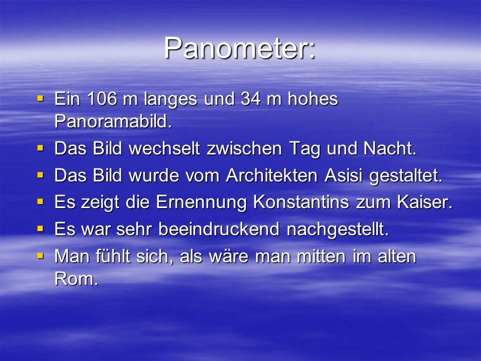 Panometer:  Ein 106 m langes und 34 m hohes Panoramabild.