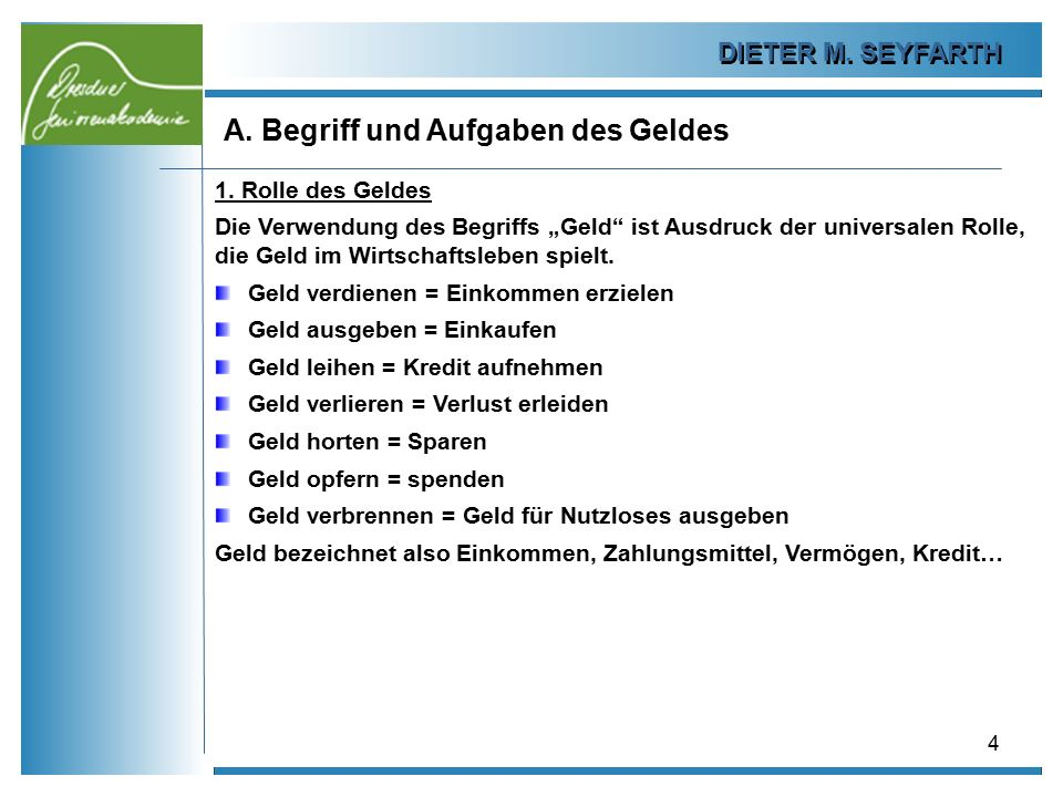 DIETER M.SEYFARTH B. Das Plastikgeld 25 1.4 Abschaffung des Bargeldes.