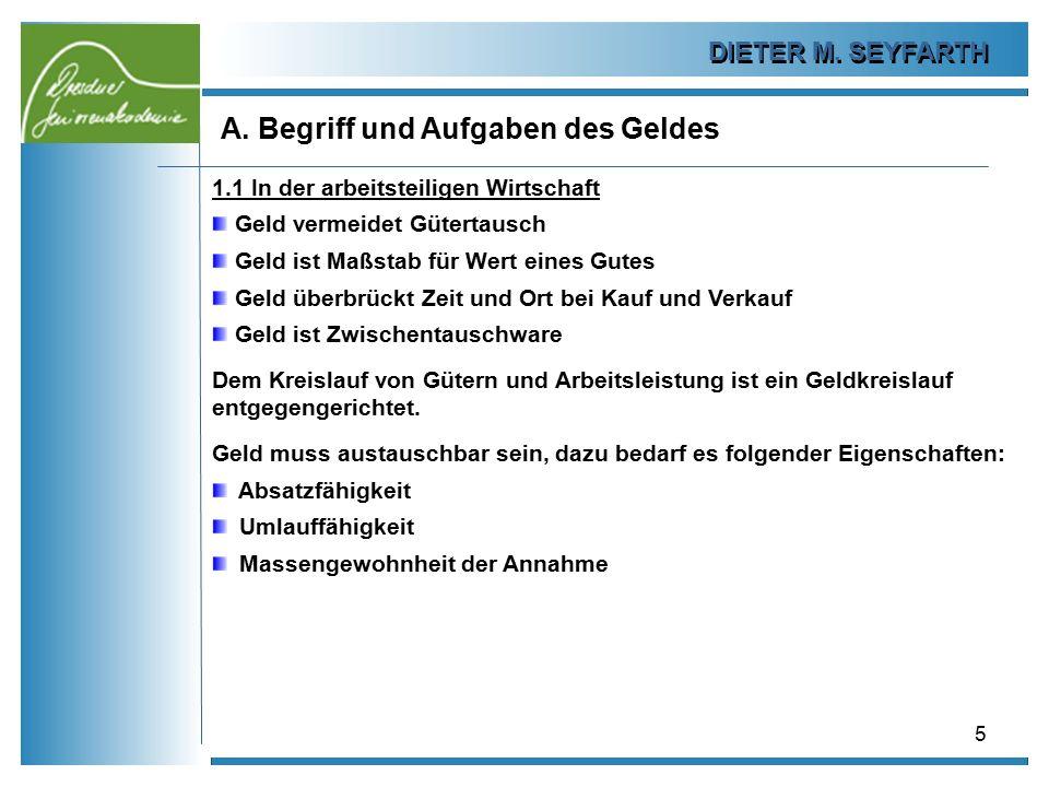 DIETER M.SEYFARTH B. Das Plastikgeld 26 1.4 Abschaffung des Bargeldes.