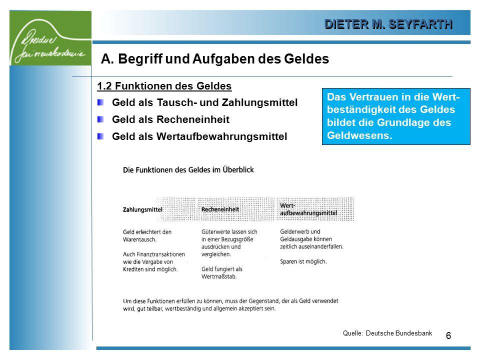 DIETER M.SEYFARTH B. Das Plastikgeld 27 1.4 Abschaffung des Bargeldes.