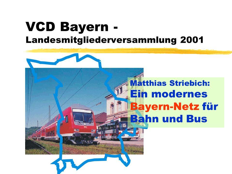 VCD Bayern - Landesmitgliederversammlung 2001 Matthias Striebich: Ein modernes Bayern-Netz für Bahn und Bus