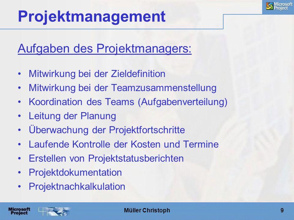 Müller Christoph20 MS Project Versionen
