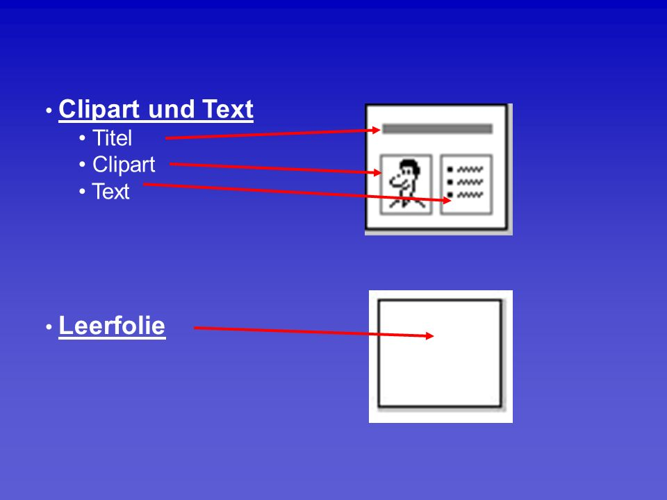 Clipart und Text Titel Clipart Text Leerfolie