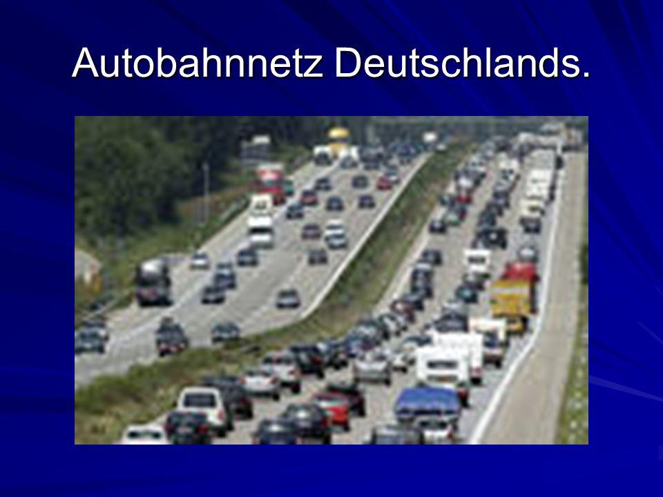 Autobahnnetz Deutschlands.