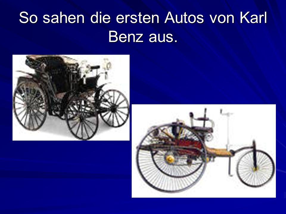 So sahen die ersten Autos von Karl Benz aus.
