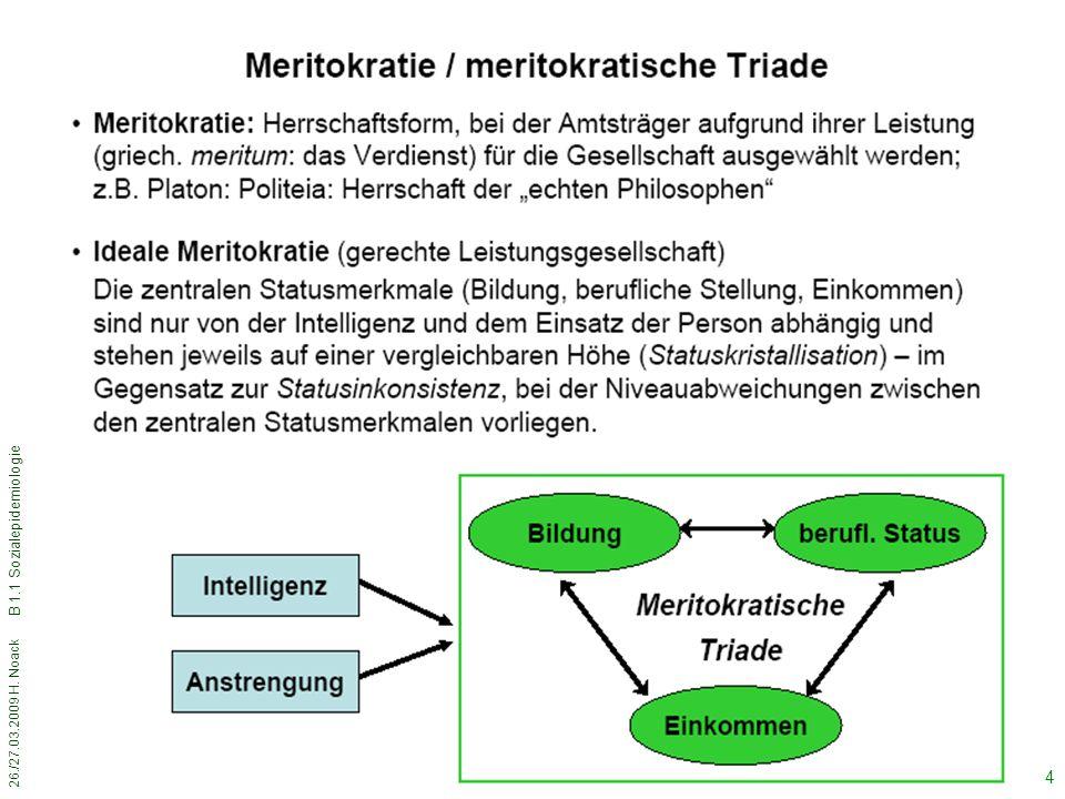 26./27.03.2009 H. Noack B 1.1 Sozialepidemiologie 44
