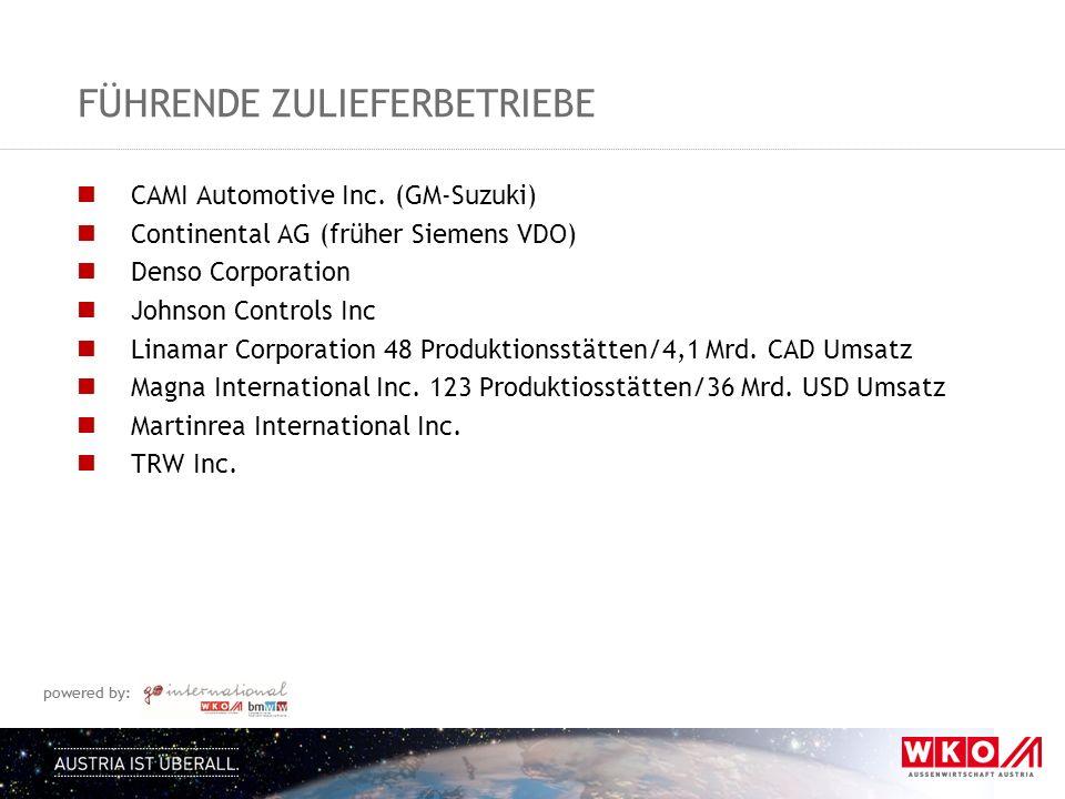 powered by: FÜHRENDE ZULIEFERBETRIEBE CAMI Automotive Inc.