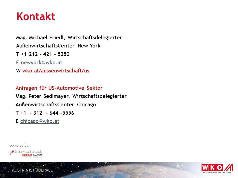 powered by: Anfragen für US-Automotive Sektor Mag.