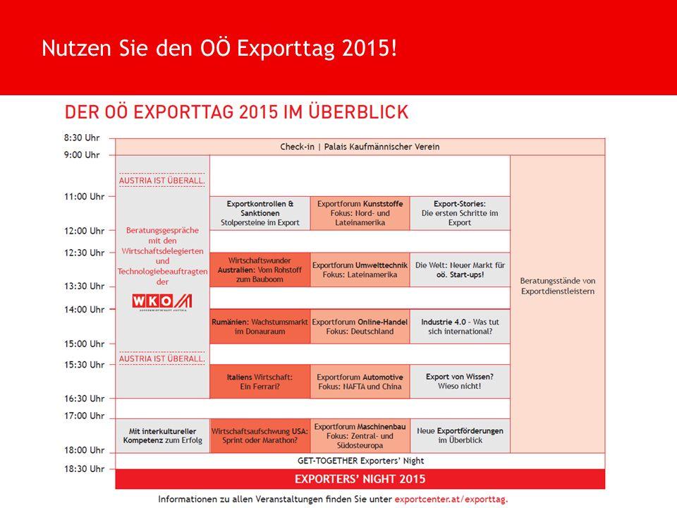 Nutzen Sie den OÖ Exporttag 2015!