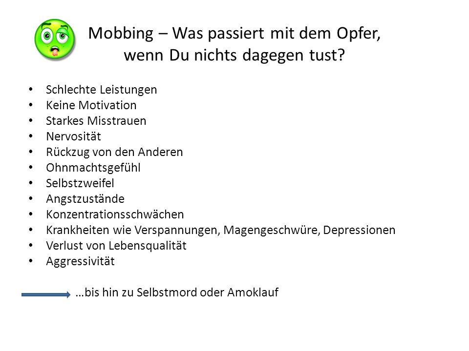 Mobbing – Was passiert mit der Gruppe, wenn Du nichts dagegen tust.