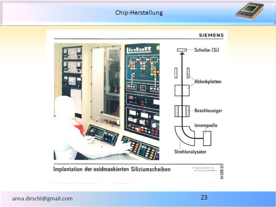 Chip-Herstellung anna.dirschl@gmail.com 23
