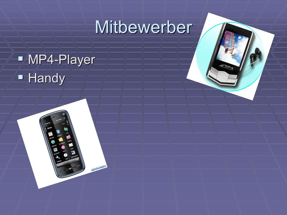 Mitbewerber  MP4-Player  Handy