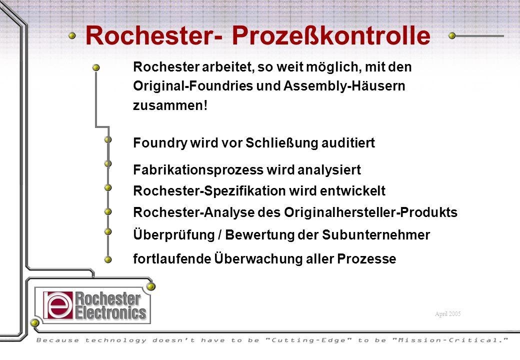 Rochester arbeitet, so weit möglich, mit den Original-Foundries und Assembly-Häusern zusammen.