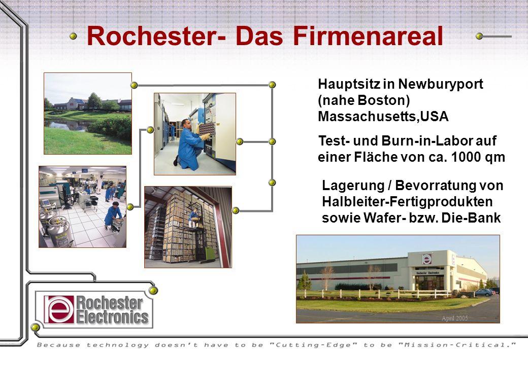 Hauptsitz in Newburyport (nahe Boston) Massachusetts,USA Test- und Burn-in-Labor auf einer Fläche von ca.