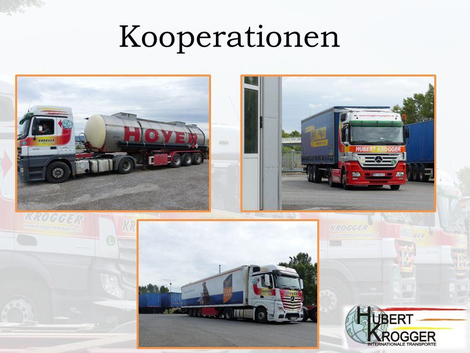 Fuhrpark 27 Sattelzugmaschinen vorwiegend EURO 6 1 Kühlauflieger Ctr.