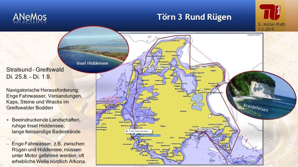 Törn 3 Rund Rügen G. Müller-Plath 1.2.2015 Kreidefelsen Insel Hiddensee