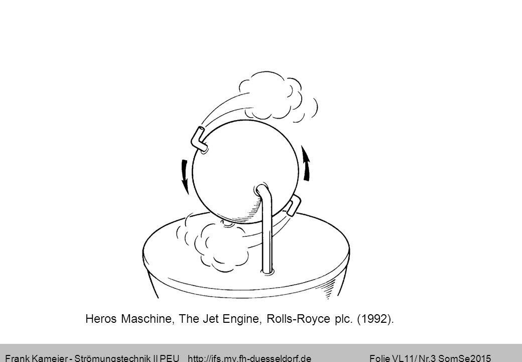 Frank Kameier - Strömungstechnik II PEU http://ifs.mv.fh-duesseldorf.de Folie VL11/ Nr.3 SomSe2015 Heros Maschine, The Jet Engine, Rolls-Royce plc.