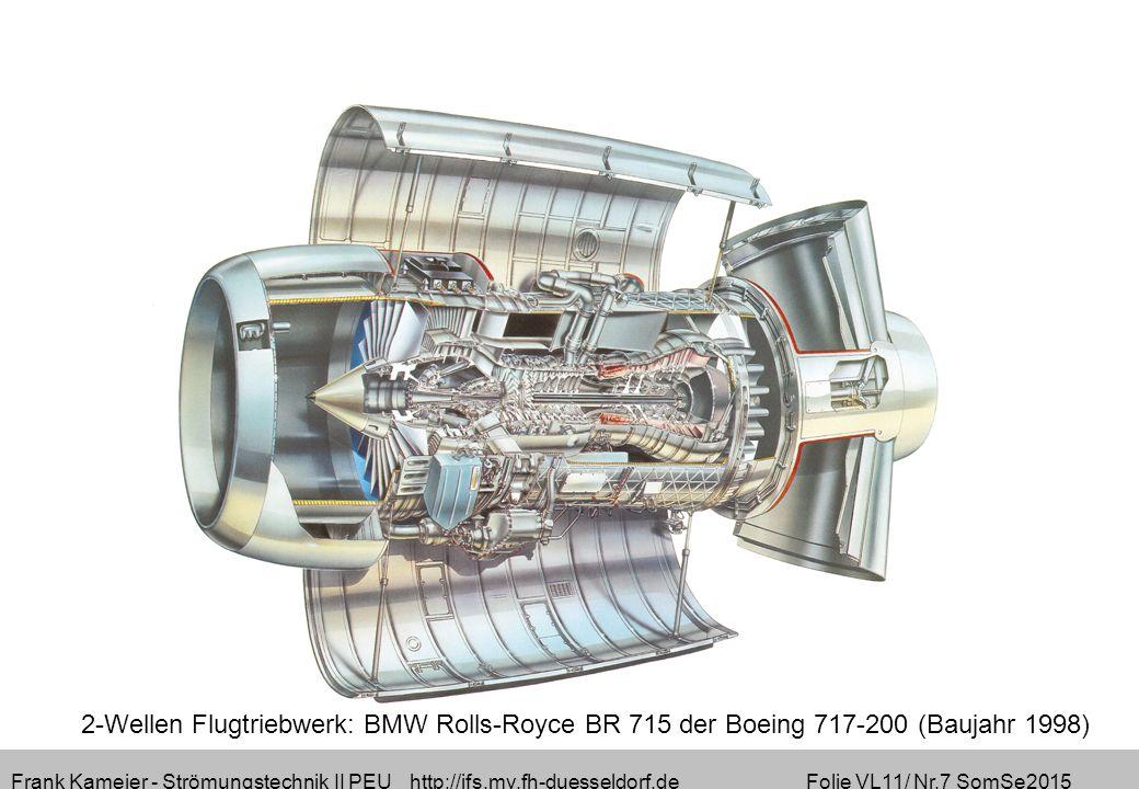Frank Kameier - Strömungstechnik II PEU http://ifs.mv.fh-duesseldorf.de Folie VL11/ Nr.7 SomSe2015 2-Wellen Flugtriebwerk: BMW Rolls-Royce BR 715 der Boeing 717-200 (Baujahr 1998)