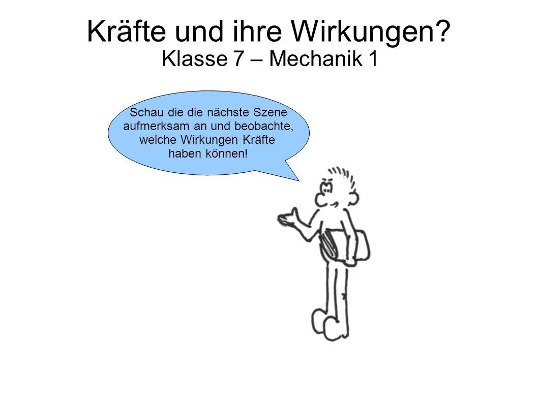 Kräfte und ihre Wirkungen.Klasse 7 – Mechanik 1 … oder auch die Form.