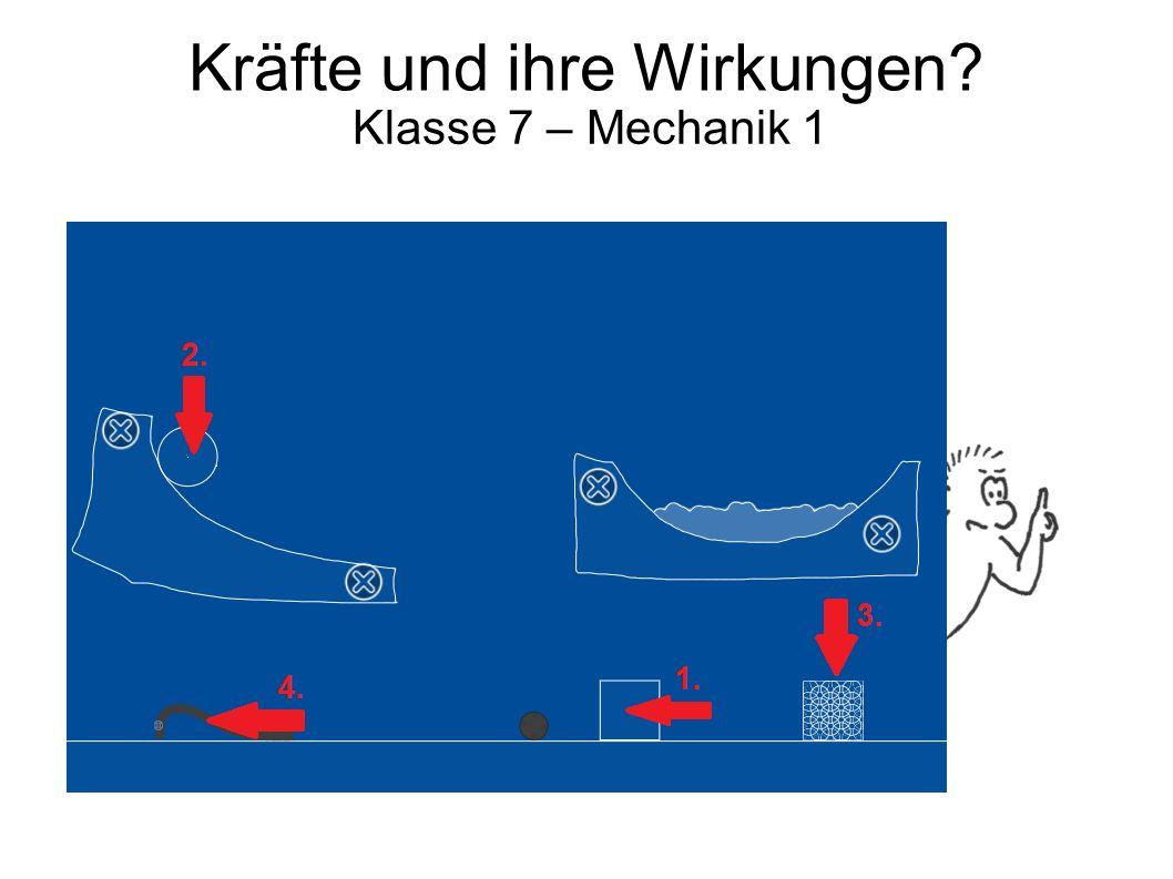 Kräfte und ihre Wirkungen? Klasse 7 – Mechanik 1 Und…? Hast du alle Wirkungen gefunden?!