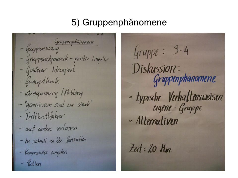 5) Gruppenphänomene