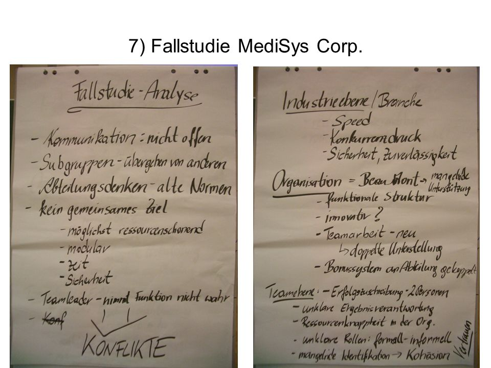 7) Fallstudie MediSys Corp.