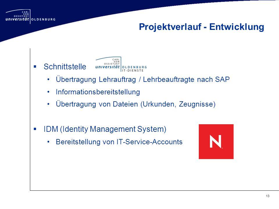  Schnittstelle Übertragung Lehrauftrag / Lehrbeauftragte nach SAP Informationsbereitstellung Übertragung von Dateien (Urkunden, Zeugnisse)  IDM (Ide