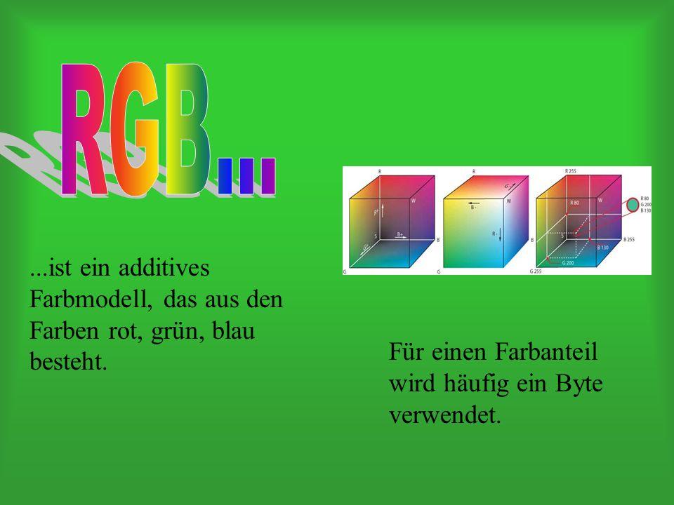 ...ist ein additives Farbmodell, das aus den Farben rot, grün, blau besteht.