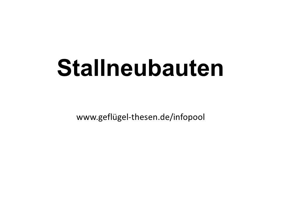 Stallneubauten www.geflügel-thesen.de/infopool