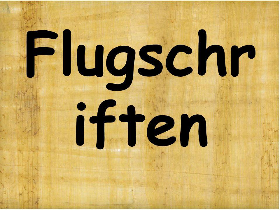 Flugschr iften