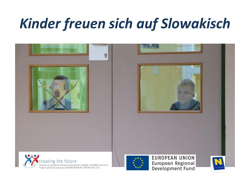 Kinder freuen sich auf Slowakisch