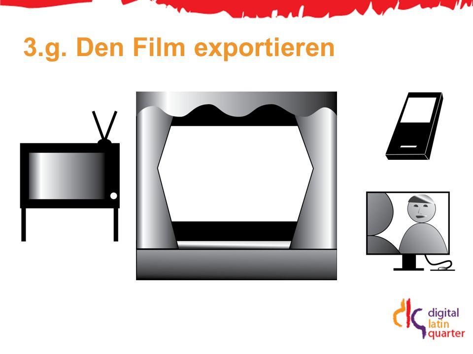3.g. Den Film exportieren