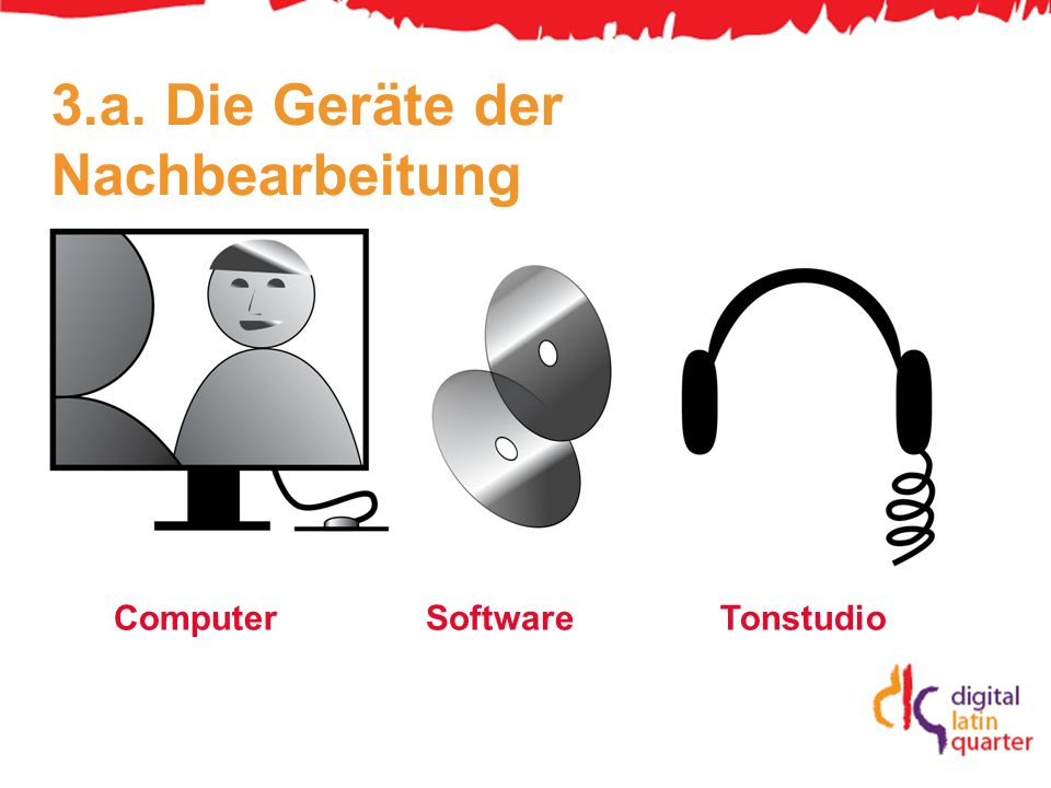 3.a. Die Geräte der Nachbearbeitung ComputerSoftwareTonstudio