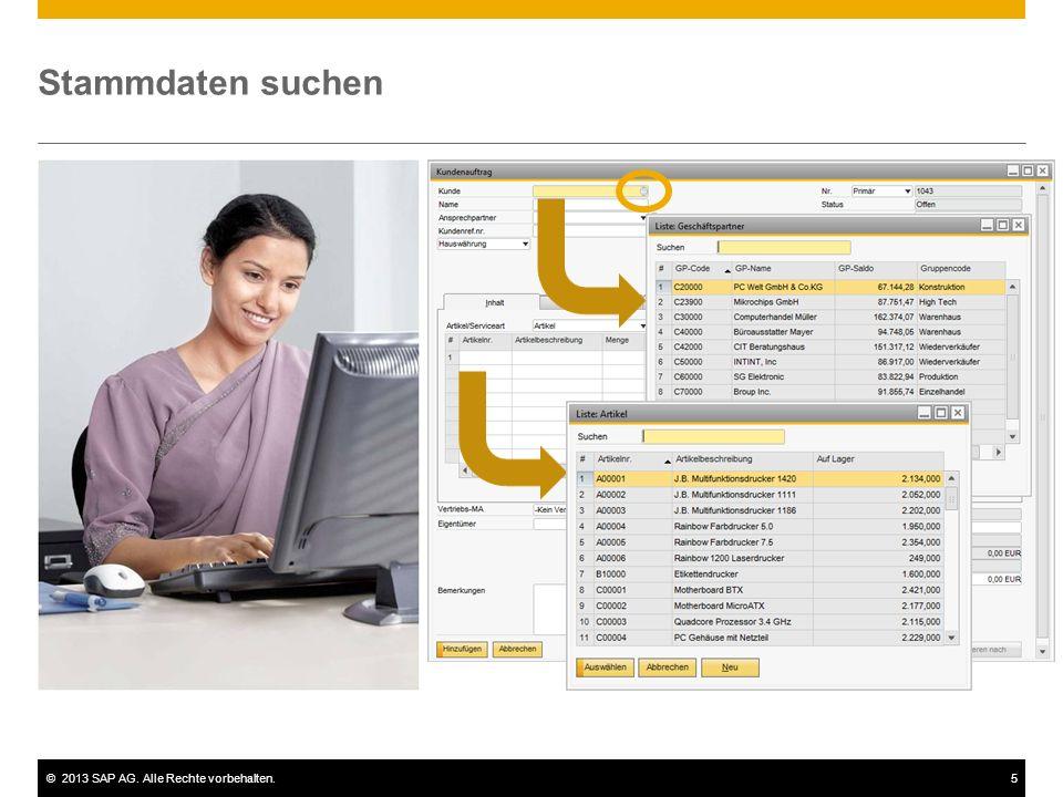 ©2013 SAP AG. Alle Rechte vorbehalten.6 Konfigurationsdaten
