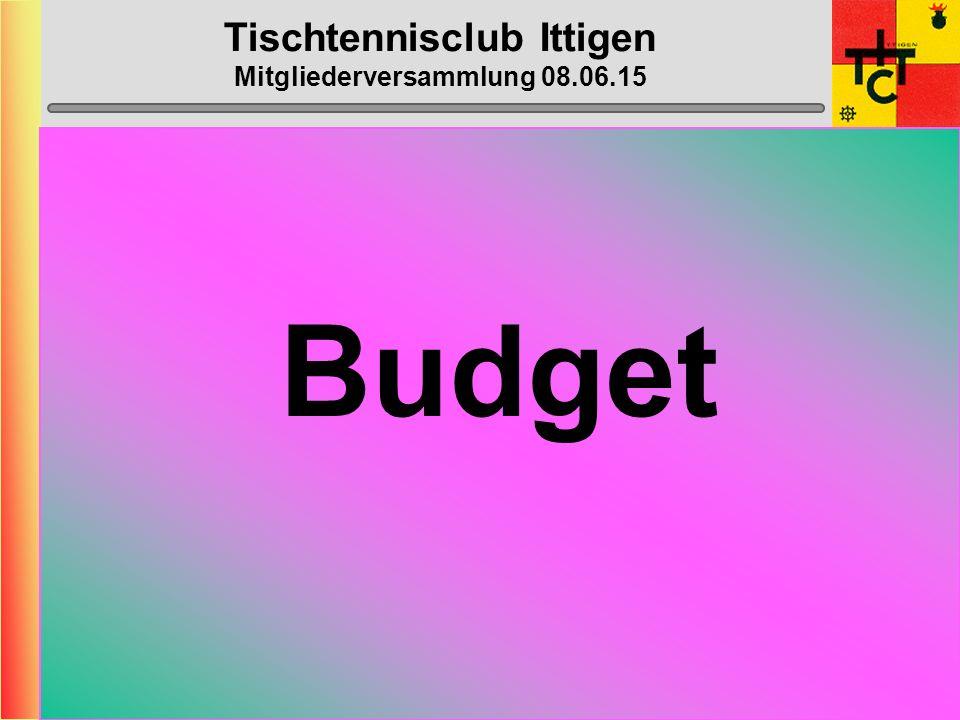 Tischtennisclub Ittigen Mitgliederversammlung 08.06.15 Anträge Mitglieder Es liegen momentan keine Anträge vor.