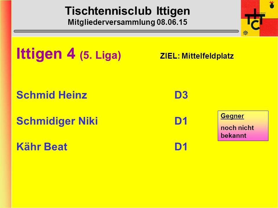 Tischtennisclub Ittigen Mitgliederversammlung 08.06.15 Ittigen 3 (5.
