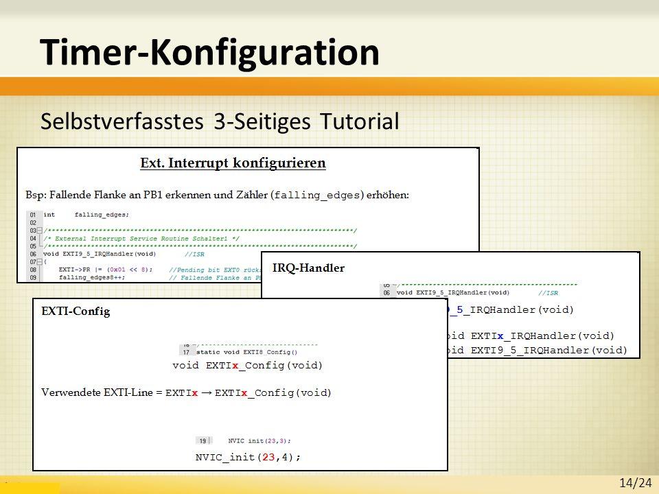 Timer-Konfiguration Selbstverfasstes 3-Seitiges Tutorial 14/24
