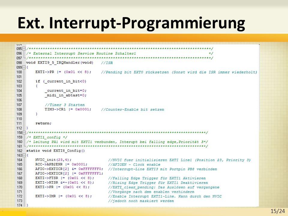 Ext. Interrupt-Programmierung 15/24